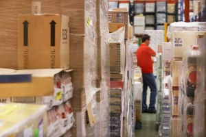 Warehouse Worker Doing Inventory
